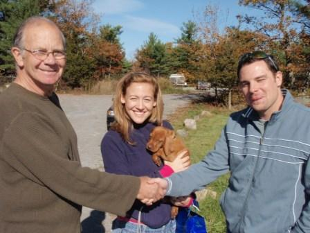 New owners for Vizsla puppy